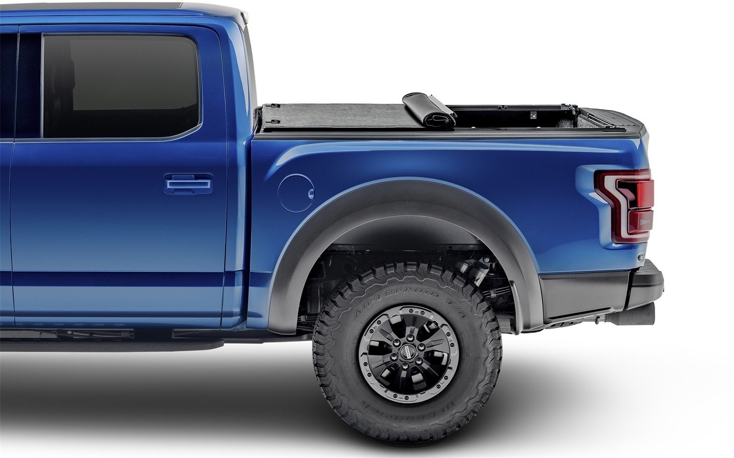 Ford F-150 with soft roll-up tonneau cover