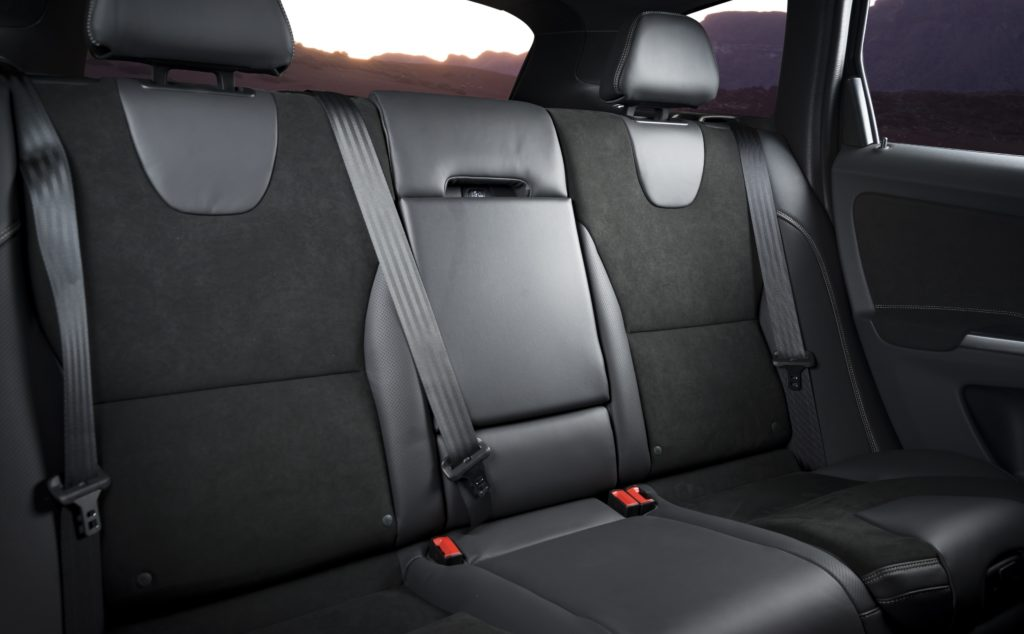 New Black with Red Trim Fabric Interior Protection Low Back Car Seat Covers Set