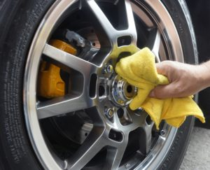 Wax your wheels to prevent brake dust from sticking