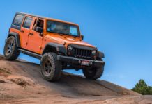 Jeep Wranger JK Off Road in Moab