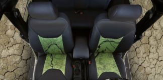 Coverking Jeep topographical map seat covers