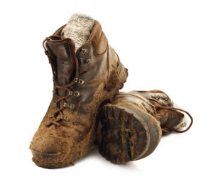 Muddy boots track dirt into your car