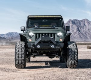 Jeep Wrangler solid front axle